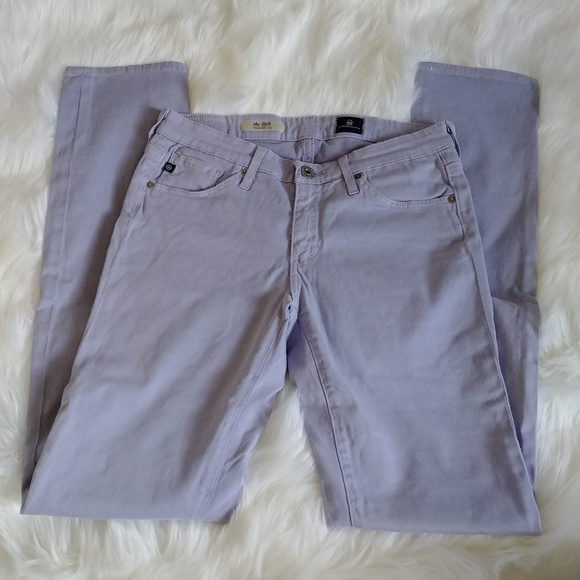 Ag Adriano Goldschmied Pants - Adriano Goldschmied Lavender Skinny Pants